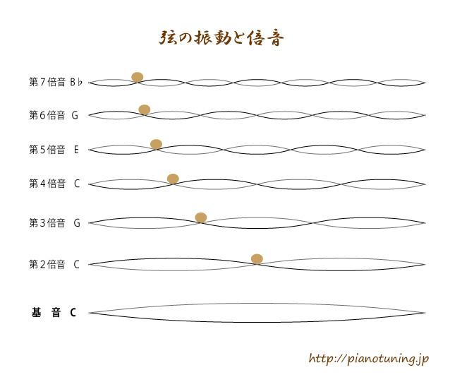 弦の振動と倍音